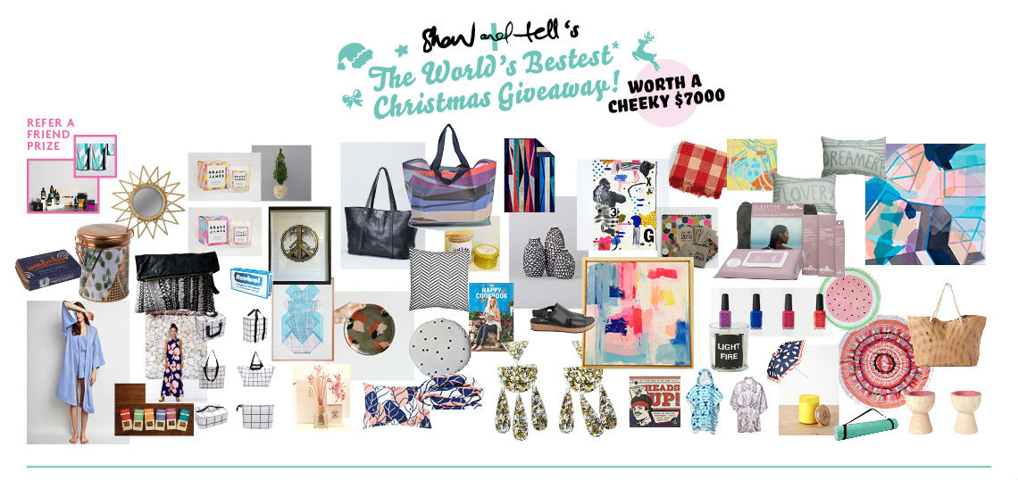 Show + Tell Christmas Giveaway